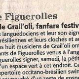 La surprise de GrailOli, fanfare festive et érudite. Figuerolles