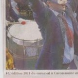 Carnaval de CARCASSONNE (11) : Banque route et traits d'heures...